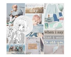 """""""Spring Day By. BTS"""" by josi-heart ❤ liked on Polyvore featuring Oris, MANGO, Monki, Cecilia Ma and Converse"""
