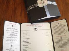 Damask Wedding Program by LBDesignsbyCO on Etsy