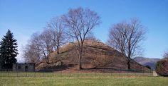 Grave Creek Pyramid (Mound), Moundsville, West Virginia - 250 BC - 150 BC