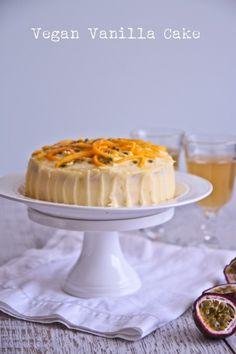 NQN: Luscious Vanilla Vegan Cake With Mango & Passionfruit (Egg & Dairy Free)!