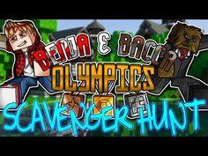 Minecraft: Benja & Bacca Olympics Game 4 - Scavenger Hunt! Game 4, Olympic Games, Olympics, Minecraft, Comic Books, Comics, Cartoons, Cartoons, Comic