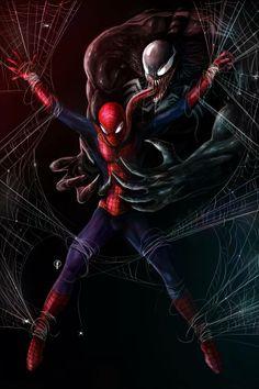 Venom Vs Spider-Man  Digital Painting