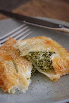 Feta, Spinach & Ricotta Rolls made with puff pastry