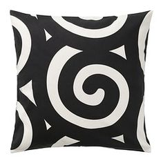 "TRÅDKLÖVER cushion cover, black/white Length: 20 "" Width: 20 "" Length: 50 cm Width: 50 cm"