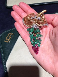 Beautiful cluster Marchak brooch, seen at Larengregor's booth in Baselworld 2014.
