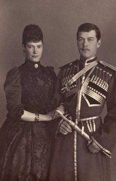 Nicholas and his mother Maria Feodorovna
