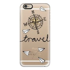 iPhone 6 Plus/6/5/5s/5c Case - Travel + Compass + Paper Planes on... found on Polyvore