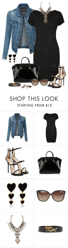 """""""...We Ain't Gon' Last Baby"""" by aharcaki on Polyvore featuring LE3NO, WearAll, Giuseppe Zanotti, Givenchy, Edie Parker, Linda Farrow, Avon, Yves Saint Laurent, dresses and women"""
