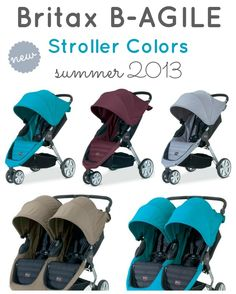 New Britax B-AGILE Stroller Colors Summer 2013 - oh man I wish I had the peacock! My fave. Mines black but still LOVE this stroller.
