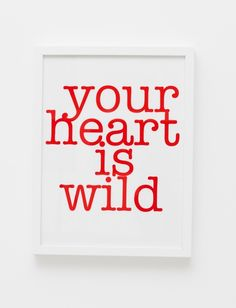 Your heart is wild print from SOOuK #soouk #valentines