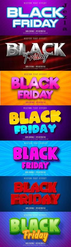 Editable font effect text collection illustration design 220 - Black Friday Edit Font, Text Effects, Vector Stock, Cartoon Styles, Adobe Illustrator, Black Friday, Illustration, Fonts, Graphics