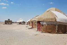 Karakalpakstan – Broken, Deserted, Dried up. What's there to see? Round House, Environmental Art, Central Asia, Outdoor Gear, Gazebo, Hunting, Deserts, Outdoor Structures, Sky