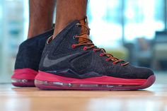 Nike LeBron X EXT QS: Double denim is back this summer ... This is a shoe that has been a long time ...