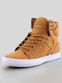 FA13 Skytop Golden Oak Pumpkin White  #Supra #Sneaker #Sneakers