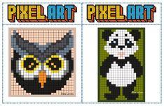 Logo D'art, Art Logo, Image Pixel Art, Modele Pixel Art, Pix Art, Ecole Art, Cycle 3, Cross Stitch Baby, Loom Patterns