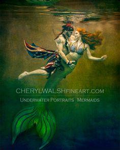 Fantasy Mermaids, Real Mermaids, Mermaids And Mermen, Magical Creatures, Sea Creatures, Underwater Photography, Art Photography, Foto Portrait, Mermaid Pictures