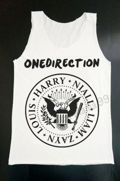 For the girls concert!!! One Direction Ramones Logo Tank Top 1D Tank Top Pop by StarMania99, $16.00