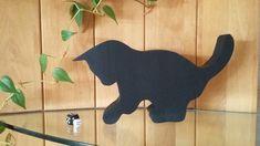 Katzenkind   2 cm dickes massives Holz  26 x 15 cm groß  dunkelgrau, weiß, creme, hellbraun, dunkelbraun oder schwarz