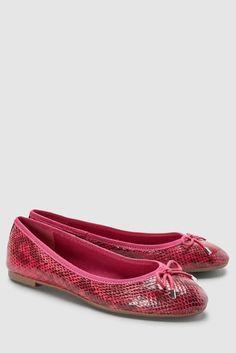 ba8f2027504f5 Buy Raspberry Snake Bow Ballerinas from the Next UK online shop