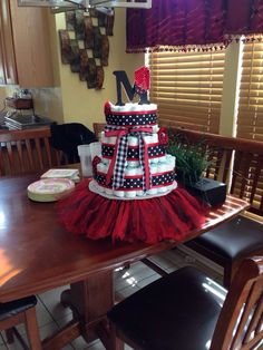 Lady Bug Diaper Cake