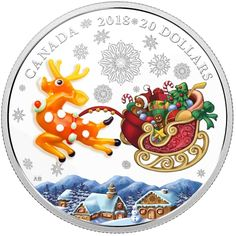 2018 CANADA $20 HOLIDAY REINDEER SILVER COIN (TAX EXEMPT