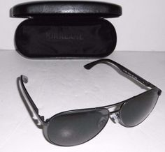 55cf76d91e5 KIRKLAND SIGNATURE SUNGLASSES AVIATOR GUN METAL FRAME ANTI-REFLECTIVE  …