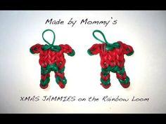▶ XMAS JAMMIES on the Rainbow Loom - Christmas Pajama Charm! - YouTube