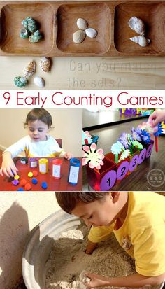 9 Early Counting Games featured at Childhood 101