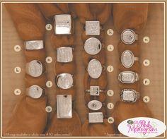 Sterling Silver Engraved Monogrammed Rings
