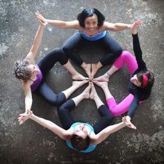 new ideas for yoga photography group Group Yoga Poses, Partner Yoga Poses, Yoga Images, Yoga Photos, Yoga Inspiration, Animation Photo, Photo Yoga, Ashtanga Vinyasa Yoga, Family Yoga