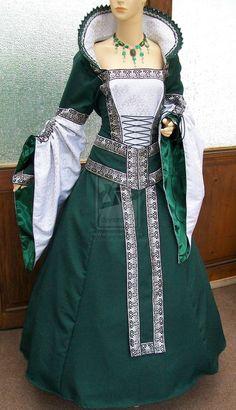 Medieval dress Giordana by Azinovic.deviantart.com on @deviantART