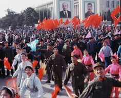 Street scene during the Cultural Revolution Jiang Qing, Empress Dowager Cixi, Mao Zedong, Fan Ho, Boxer Rebellion, Communist Propaganda, Taoism, Modern History, History Facts
