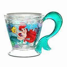 The Little Mermaid cup Disney Coffee Mugs, Disney Mugs, Disney Pixar, Walt Disney, Mermaid Cup, Disney Collection, Mermaid Bedroom, Cute Cups, Disney Home