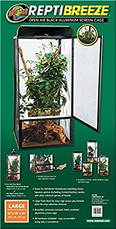 Amazon.com : Zoo Med ReptiBreeze Open Air Screen Cage, Extra Large, 24 x 24 x 48-Inches : Zoo Med Terrarium : Pet Supplies