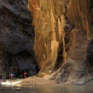 The Narrows, Zion National Park, Utah (16 miles)