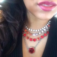 ❤️ Ready for Valentine's weekend and Spreading Sabika Love❤️  Showing  off How Sweet London, 10 Year Anniversary Fun Choker, Summer Heat Manhattan and Vintage Craft Rose Necklace, paired with softer Side Grace Drops❤️ Happy Valentine's Day Sabika beauties and beaus  ❤️