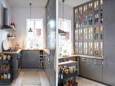 Une cuisine de style vintage en U