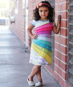 Love this Rainbow Spring Shift Dress - Toddler & Girls by Me & Ko on #zulily! #zulilyfinds