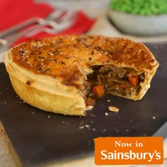 Supper for two? We've got you covered with our new Steak & Sussex Ale Sharing Pie. Packed with slow-cooked British beef in a rich Sussex ale gravy, with onions and carrots, hand-topped with all-butter puff pastry and a linseed and poppy seed sprinkle - you'll be fighting for the last slice. Available from Sainsbury's. Beef Recipes, Cake Recipes, Cooking Recipes, Healthy Recipes, Meal Ideas, Dinner Ideas, Dinner Recipes, Veggie Rolls, Ale Pie