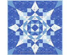 Seven Easy Pieces Quilt Pattern instant download PDF, easy paper pieced quilt patterns, star quilt pattern, snowflake pattern, star patterns