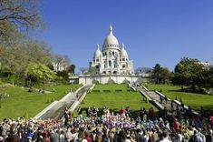 Perched on a hill to the north of Paris, the basilica dominates the skyline of Montmartre with its white dome.