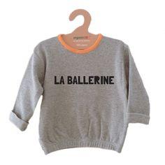 organic ZOO Grey Sweatshirt La Ballerine