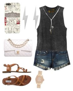 """Waz up Home Skillet"" by angiecastellanos ❤ liked on Polyvore featuring Steve Madden, rag & bone/JEAN, RVCA, Banana Republic, Harrods, Edge Only, Chanel and Michael Kors"