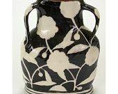 Vase, Black and White Negative Space Profile.  Handmade by Nancy Gardner.