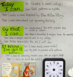 Cassie Stephens: here's how she lists her objectives, based on Don Masse's . . . good example of listing 4 grades at once!