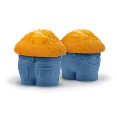 Enough of the body shaming already!  It's time we celebrate the muffin top!   We've all seen this look before, but not like this!  Fill these adorable jean-style cupcake pants with your favorite c