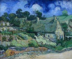 "The garden is the dominant feature in Vincent van Gogh's ""Maison à Cordeville"""