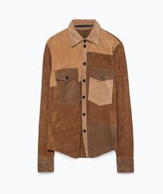 Suede 70's shirt - Zara SS15