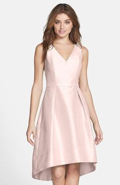Satin High/Low Fit & Flare Dress (Online Only)