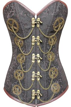 Long lined steampunk corset